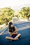 Verlorenes junges Mädchen stockfotografie
