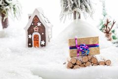 Verlorenes Weihnachtsgeschenk Stockfotos