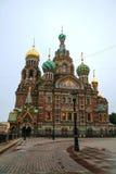Verlosser op Bloedkathedraal in St. Petersburg, Rusland Stock Foto's