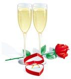 Verlovingsring stock illustratie