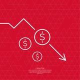 Verlust von Punkte Währung Lizenzfreie Stockfotografie