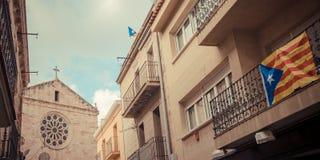 Vermächtnis an der Straße in Katalonien lizenzfreies stockfoto