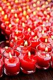 Vermögens-Schalen-Kerzen Stockbild