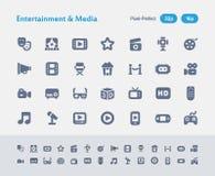 Vermaak & Media - Mierenpictogrammen royalty-vrije illustratie