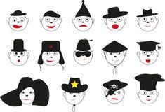 Vermakelijke aantrekkelijke gezichten Royalty-vrije Illustratie