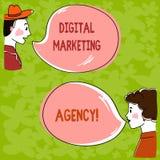 Vermarktende Agentur Handschriftstext Digital Konzeptbedeutung hilft Geschäft, in den genauen Zielgruppen sich zu engagieren über lizenzfreie abbildung