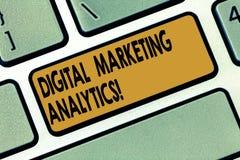 Vermarktender Analytics Wortschreibenstext Digital Geschäftskonzept für Maßnahme Geschäftsmetrik wie Verkehr und Führungen lizenzfreie stockfotos