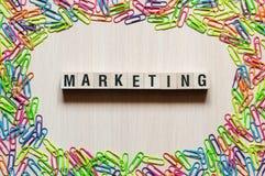 Vermarktendes Wort-Konzept lizenzfreies stockfoto
