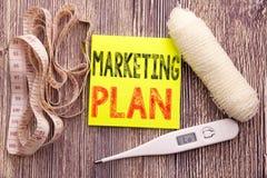 Vermarktungsplan Geschäftseignungs-Gesundheitskonzept für die Planung der erfolgreichen Strategie leeren Papierhintergrund der kl Stockbild