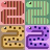 Verme di arte del pixel dell'illustrazione immagine stock libera da diritti