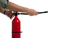 Vermeidung einen Notfall - ein Feuer heraus setzen Lizenzfreie Stockfotos