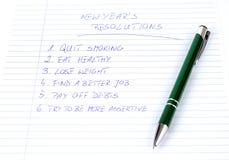 Vermelde de resoluties van het nieuwjaar Royalty-vrije Stock Foto
