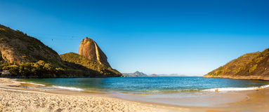 Vermelha Beach and Sugar Loaf panorama Stock Photos