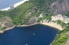 Vermelho海滩在里约热内卢 免版税库存照片