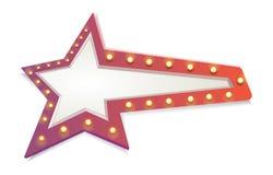 Vermelho abstrato da estrela Fotografia de Stock