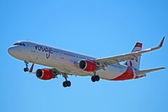 Vermelho Airbus A321-200 C-FJOU de Air Canada Imagens de Stock Royalty Free