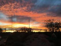 Vermelho ajustado do sol pedy de Coober Imagens de Stock Royalty Free