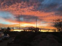 Vermelho ajustado do sol pedy de Coober Fotografia de Stock