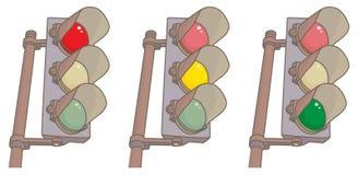 Vermelho, amarelo, verde Imagens de Stock