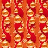 Vermelho & papel de envolvimento do Natal do ouro ilustração royalty free
