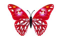 Vermelho bonito borboleta colorida Foto de Stock Royalty Free