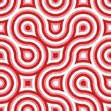 Vermelho branco da cor-de-rosa sem emenda selvagem Funky do teste padrão do círculo Imagem de Stock