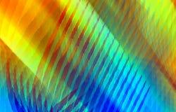 Vermelho brilhante, amarelo abstrato, verde e azul colorem o fundo das listras e dos pontos Fotos de Stock