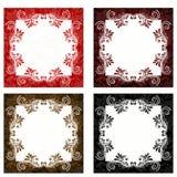 Vermelho, Brown e fundos pretos Fotografia de Stock Royalty Free