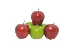 Vermelho com Apple verde Imagens de Stock Royalty Free