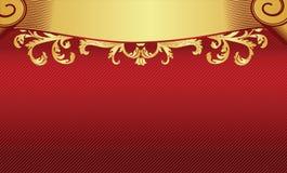 Vermelho com fundo do ouro Imagem de Stock