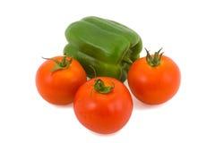 Vermelho com verde Fotos de Stock Royalty Free