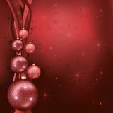 Vermelho comemorativo do fundo do Natal - preto Foto de Stock Royalty Free