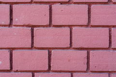 Vermelho cor-de-rosa fundo pintado da textura da parede de tijolo Imagens de Stock