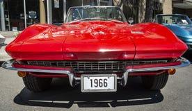 1966 vermelho Corveta o evento grande do fim de semana de 2018 Prix Imagens de Stock Royalty Free