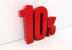 vermelho 3D 10 por cento Fotografia de Stock Royalty Free