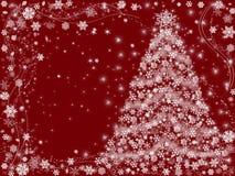 Vermelho da árvore de Natal Fotos de Stock Royalty Free