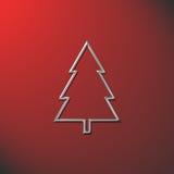 Vermelho da árvore de Natal Imagens de Stock Royalty Free