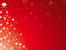 Vermelho da árvore de Natal Foto de Stock
