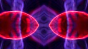 Vermelho da arte do caleidoscópio da bola do plasma ilustração stock