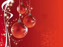 Vermelho da decoração do Natal Imagem de Stock