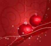 Vermelho da decoração do Natal Fotografia de Stock