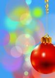 Vermelho da esfera do Natal Imagem de Stock