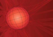 Vermelho da grade do globo ilustração royalty free