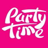 vermelho da ilustração do vetor do logotipo do sinal do tempo do partido Fotografia de Stock Royalty Free