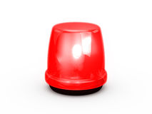 Vermelho da luz de piscamento Foto de Stock Royalty Free