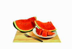 Vermelho da melancia Imagem de Stock
