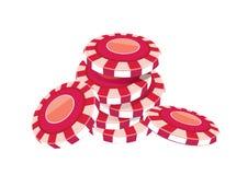 Vermelho da microplaqueta de pôquer Imagem de Stock