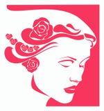 Vermelho da mulher Fotografia de Stock Royalty Free