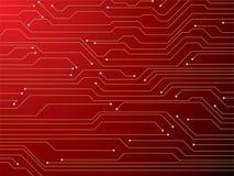 Vermelho da placa de circuito ilustração stock