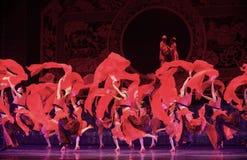 Vermelho da porcelana da dança foto de stock